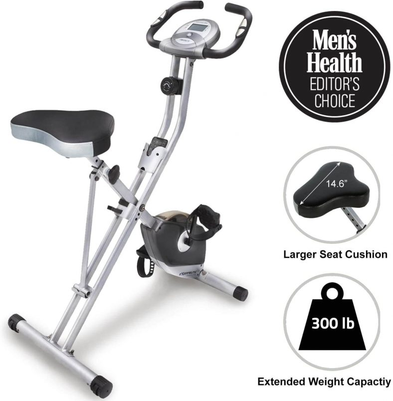 Exerpeutic Folding Magnetic Upright Exercise Bike with Pulse Best Cheap Exercise Bike Under 100