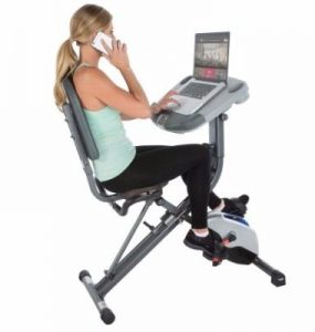 Exerpeutic WORKFIT 1000 Desk Station Folding Semi-Recumbent Exercise Bike Review