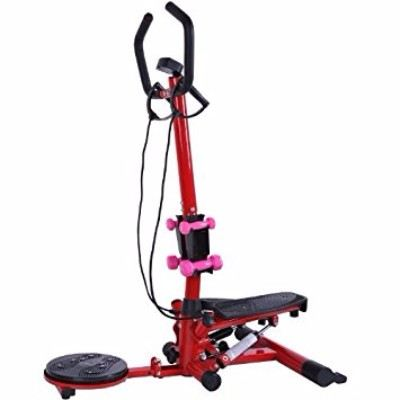Soozier Aerobic Waist Twister Stepper Fitness Machine with Dumbbells Review