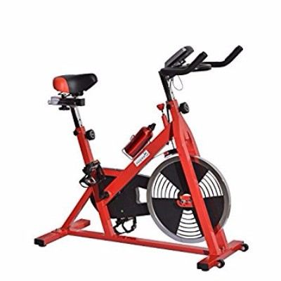 Soozier Upright Stationary Exercise Cycling Bike with LCD Monitor Review