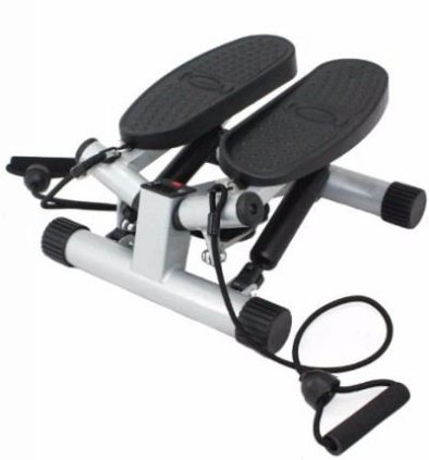 Sunny Health & Fitness Silver Twisting Stair Stepper with Band Review