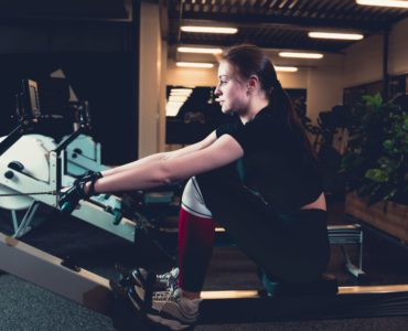 What muscles does a rowing machine work